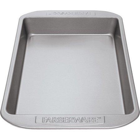 Farberware Nonstick Bakeware Rectangular Cake Pan, Gray (Farberware Bread Pan compare prices)