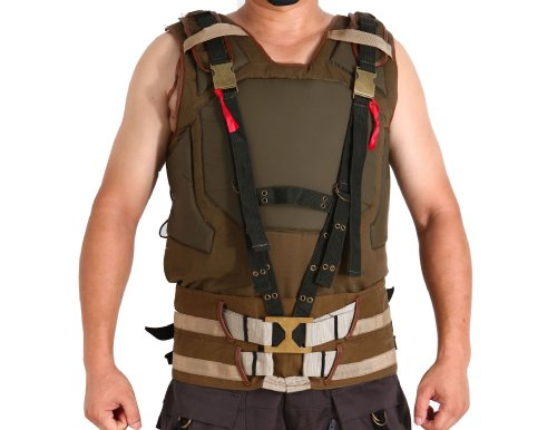 [Batman 3 Bane Tactical Coat Vest for Man Size XL] (Dark Knight Rises Bane Costumes Sale)