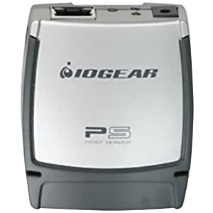 IOGEAR USB 2.0 Print Server, 1-Port GPSU21 (Silver)