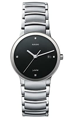 Rado Men's R30927713 Centrix Jubile Black Dial Watch