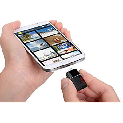 SanDisk Ultra 128GB USB 3.0 OTG Flash Drive with micro USB connector For Android Mobile Devices- SDDD2-128G-GAM46