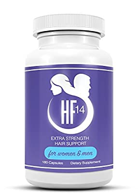 DHT Blocker | EXTRA STRENGTH Hair Loss Treatment| Hair Growth |14 Vitamins, Including Biotin and Collagen, Make 4 Unique Formulas in 1 Bottle | HF14 Extra Strength Hair Support | MONEY BACK GUARANTEE