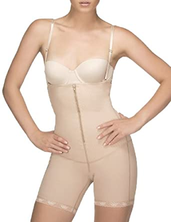 Body Shaper By Vedette 302 Tummy Slimmer and Butt Enhancer (medium, beige)