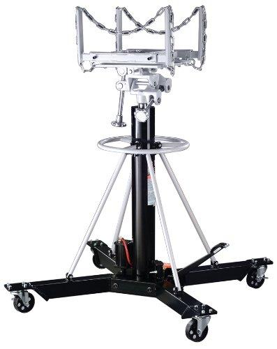 Omega 42001 Black Telescopic Transmission Jack - 1 Ton Capacity