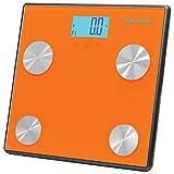 Pesa con Escala Digital para la Salud Personal Pyle PHLSCBT4 con  Bluetooth color anaranjado.
