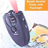 Accurate Breath Alcohol Tester Keychain Breathalyzer + Flashlight ~ Alcohol tester