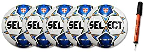 Select United Soccer Ball Package (White/Blue, 3)