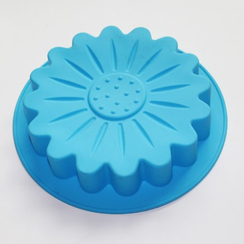 X-Haibei Nice Round Sunflower Silicone Cake Mold Bakeware Decorating Tray Dessert Pan