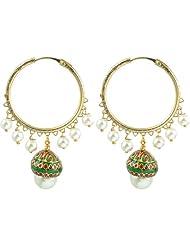 The Jewelbox Pearl Enamel Bai Earring