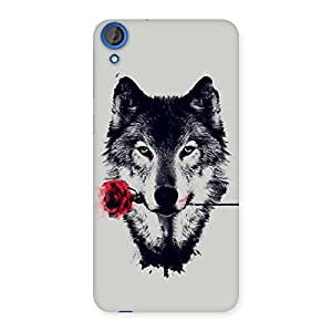 Gorgeous Rose Wolf Multicolor Back Case Cover for HTC Desire 820