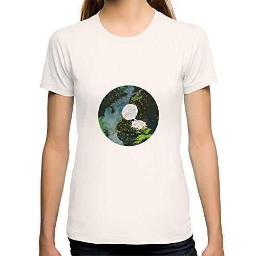 Society6 Women'S Seeing Sounds T-Shirt Medium Natural