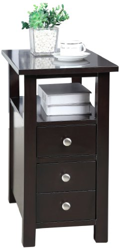Williams Home Furnishing Jasina Side Table, Dark Espresso (Rectangle End Table compare prices)