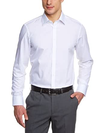 Venti Herren Businesshemd Slim Fit 001480/0, Gr. 36, Weiß (0 weiß)
