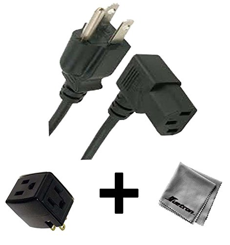 Click to buy 6FT Right Angled AC Power Cord for Compaq X07 Desktop Gaming PC + 3 Outlet Adapter - From only $11.69