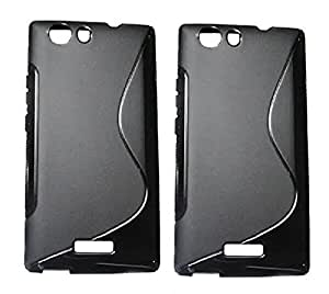 S Line Grip Back Case Cover for Micromax Canvas Nitro 2 E311 - Value for Money Pack of 2