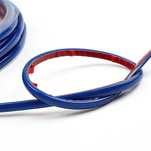 WLM 5M Auto Decoration Sticker Thread Car Interior Exterior Body Modify Decal (Blue)