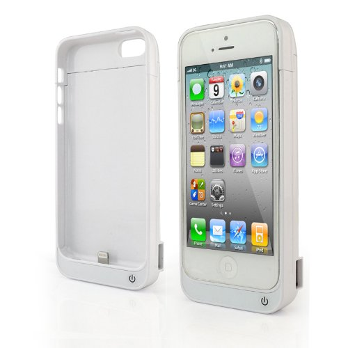 Best Price 4200mAh for iPhone 5 5s 5c External Battery Backup Charger Case Pack Power Bank - White
