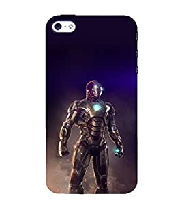 printtech Iron Suit Tesla Core Back Case Cover for Apple iPhone 4
