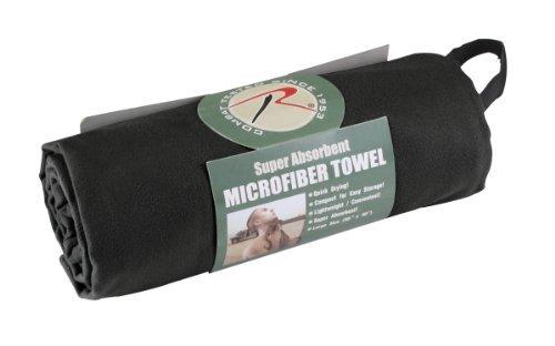 Black Military Fast Drying Multi Purpose Microfiber Towel