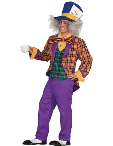 Mad Hatter Adult Costume Std Adult Mens Costume
