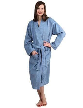 TowelSelections Turkish Cotton Robe Kimono Collar Terry Bathrobe Made