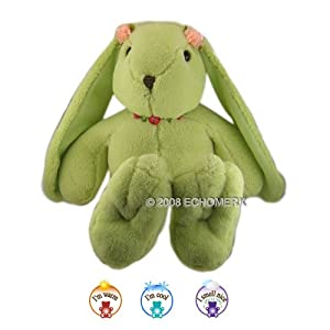 Green Chamois Bunny- Aromatherapy Stuffed Animal - Hot And Cold Therapy