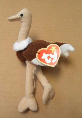 TY Teenie Beanie Babies Stretchy the Ostrich Stuffed Animal Plush Toy - 6 inches tall - Brown by Smartbuy - 1