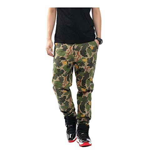 Pizoff Uomo Hip Hop Pants Pantaloni con stampa mimetica digitale Y0539--L