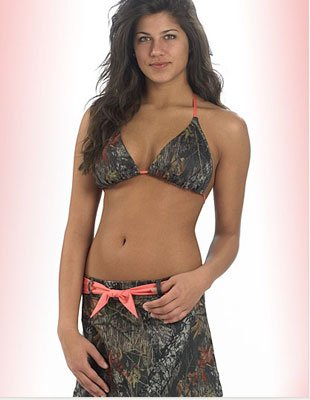Weber's Wilderness Dreams Mossy Oak Pink Belted Swim Skirt