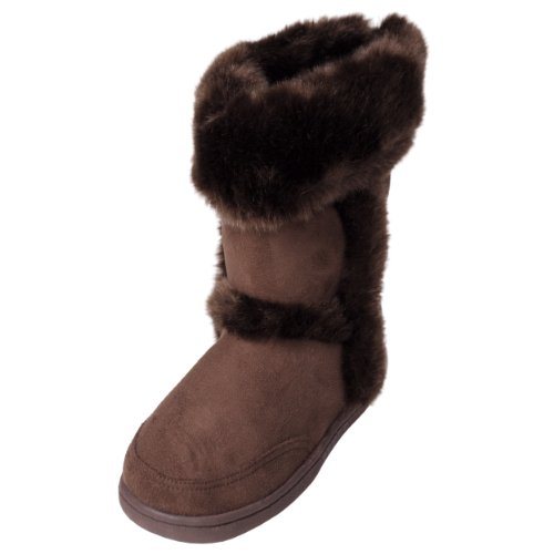 Journee Kids Girls Faux Fur Trim Boots
