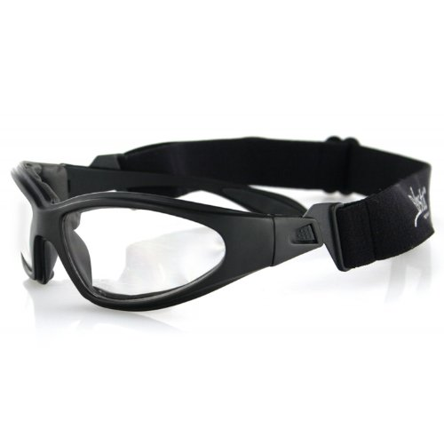 Bobster GXR Sport Sunglasses,Black Frame/Clear Lens,one size image