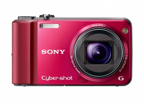 Sony Cyber-Shot DSC-H70 16.1 MP Digital Still Camera with 10x Wide-Angle Optical Zoom G Lens and 3.0-inch LCD (Red)