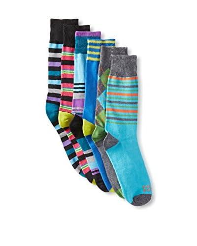 Funky Socks 30354H Men's Socks - 6 Pack, Assorted, One Size