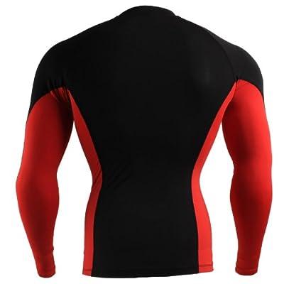 Emfraa Men Women Skin Tight Base Layer T Shirt Running Long Sleeve