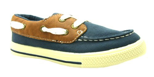 Boy's Boat Goody 2 Shoes Navy Lace Up Canvas Deck Shoes