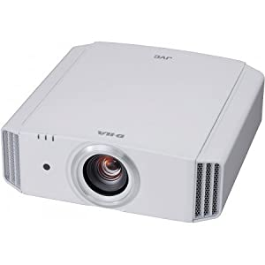 JVC DLA-X35W 3D HD Front Projector, White, Highest Rated in Class