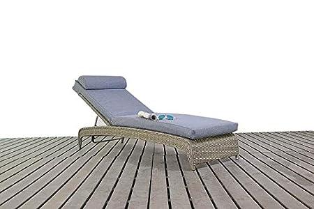 Modern piccolo Rattan giardino/giardino invernale lettino, spessore 3posizione schienale, cuscino, inverno giardino/mobili da giardino