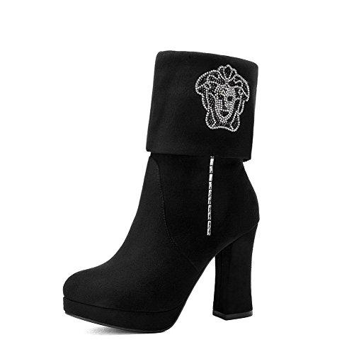 balamasa-womens-chunky-heels-glass-diamond-foldable-platform-black-frosted-boots-45-uk