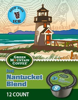 12 Count, Green Mountain Nantucket Blend Iced Vue Packs For Keurig Vue Brewers (1 - 12 Ct Vue Pack)