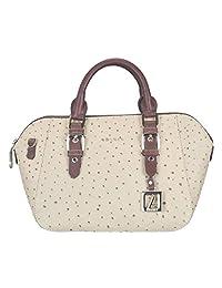 Adamis Beautiful Designed Handbag (Beige_B729)