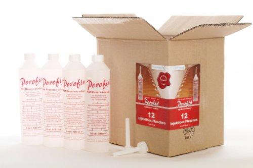 porofin horizontalsperre karton inhalt 12 flaschen gegen feuchte w nde zum dauerhaften keller. Black Bedroom Furniture Sets. Home Design Ideas