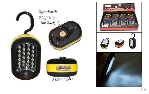3x 27 LED Compact Work-light Magnetic W/hook, Bundle of 3