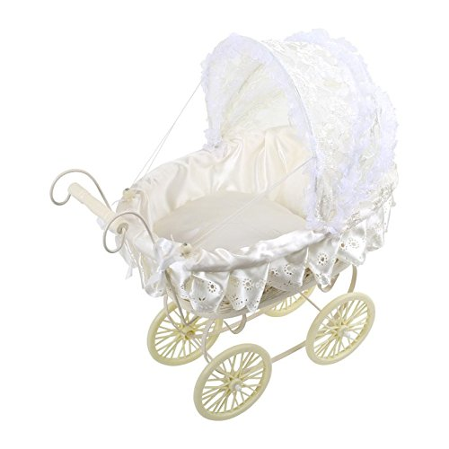 Review Doll's Pram White with Lace