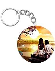 Love Couple | ShopTwiz WOODEN Circle Key Ring - B01JIBTIQS