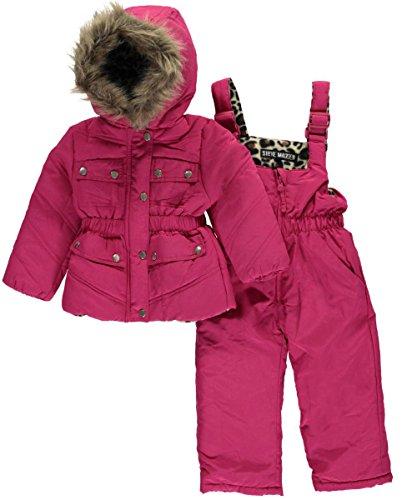 steve-madden-baby-girls-snow-leopard-2-piece-snowsuit-fuchsia-12-months
