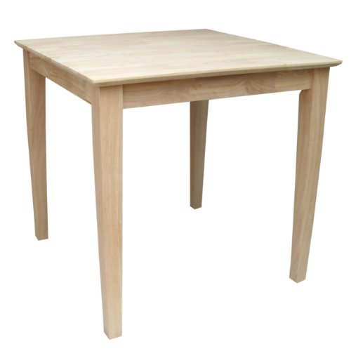 International Concepts Square Solid Wood Top Table With