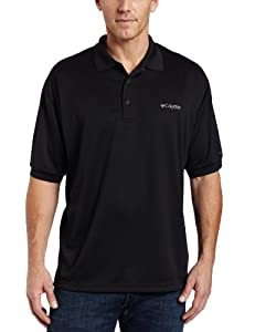 Columbia Men's Perfect Cast Polo, Black, X-Large