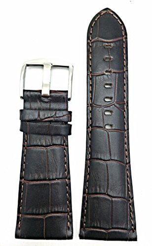 Newlife Dark Brown Square Croco Grain 28Mm