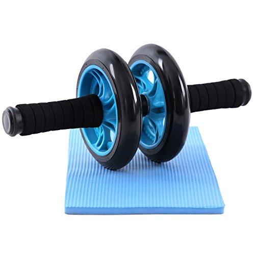 Songmics Exercise Wheel AB Roller Addominali Nero Taglia unica SPU75P