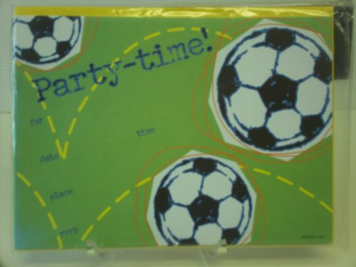 16pc Soccer Party Invitations - Cards, Envelopes,